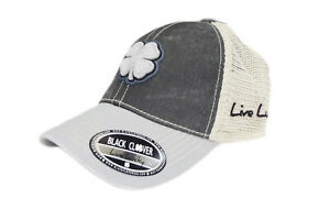 NEW Black Clover Live Lucky Two Tone Vintage 18 Grey Adjustable Golf Hat/Cap