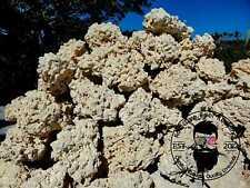 30 lbs Extra Large Dry Reef Rock Aragonite Base, Porous Aquariums Live