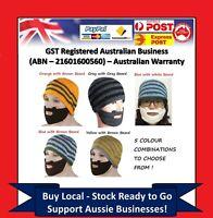 Mens Boys Funny Wig Beard Hats Hobo Mad Caveman Winter Knit Warm Hat Beanies C