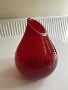 Red Small Glass Vase