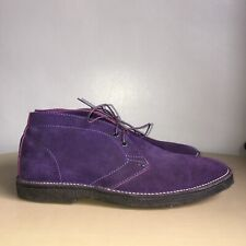 Paul Smith Ankle Boots Size 10 Purple Suede Desert Boots