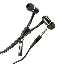 Omega auriculares cremallera Zippy negro