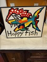Lisa Grubb Happy Fish Framed Art