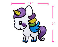 CUTE KID UNICORN LITTLE PONY EMBROIDERED IRON ON PATCH HEAT SEAL APPLIQUE DIY