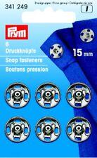 Prym 6 Druckknöpfe zum Annähen 15 mm silberfarbig 341249