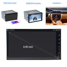 "6,95""2 DIN Auto Stereo DVD CD Radio Video Player GPS Navigation Bluetooth AUX IN"