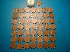 "1917-P LINCOLN WHEAT CENT PENNY ROLL, 50 coins ""FINE"" GRADE"