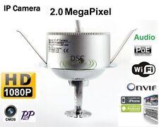 Fire Sprinkler Security IP Camera W/3.7 Pinhole Lens HD 1080P, WiFi, Audio, PoE