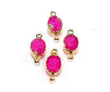 DH-7023 Exclusive Sale Awesome Sugar Druzy Gold Plated Connector Making Jewelry