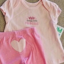 DARLING! NEW CHILD OF MINE 0-3 MONTH 2PC DADDY'S LITTLE PRINCESS OUTFIT