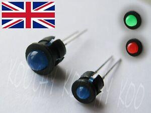 3mm or 5mm Black Plastic LED Holder - Diode Mount Bezel Clip - Quality 1-100 pcs