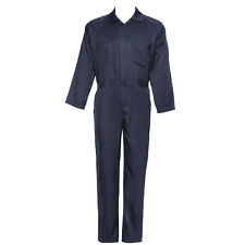 Quality Navy Blue Mens Protective Coverall Overalls Boiler Suit Workwear