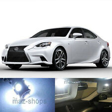 15Pcs Xenon White LED Lights Interior Package For 2014-2015 Lexus IS250 IS350