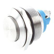 Interruptor de boton pulsador momentaneo de acero inoxidable 22mm Montaje e I4N8
