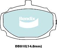 Brake Disc Pad Set  Bendix DB810 GCT For HILLMAN HUMBER MG SUNBEAM