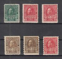 Y4644/ CANADA – WAR TAX – 1915 / 1916 MINT SEMI MODERN LOT – CV 275 $