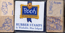 Pooh 100 Acre Postage Mail All Night Media Tiny Stamp Set To~From Piglet #2602SH