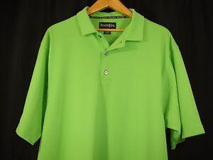 FootJoy Mens Short Sleeve Apple Green Polo Golf Shirt L
