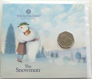 2020 Royal Mint The Snowman 50p Fifty Pence Coin Pack Sealed Uncirculated