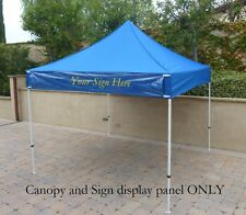 E-Z UP 10' x 10' Replacement Canopy Top Cover | Sign Display Holder, Blue
