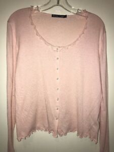 Woollovers Pink Cardigan Size Large.           #10
