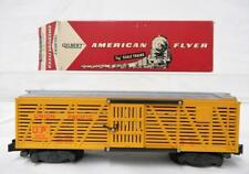 BOXED American Flyer 24076 Union Pacific Cattle Stock Car CLEAN! postwar KNUCKLE