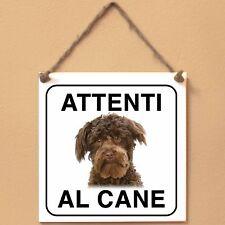 Schnoodle 3 Attenti al cane Targa piastrella cartello ceramic tile sign dog