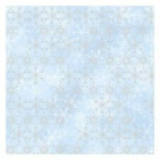 York DI0960 Wallpaper Disney Frozen 2 Snowflake Unpasted Blue Wallcoverings