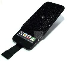 Luxury Slim Crystal Bling Sparkle Diamond Pull Cord Case Cover Pouch Various (M)