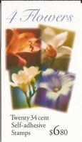 US Stamp - 2001 Flowers - Booklet of 20 Stamps - Scott #BK284