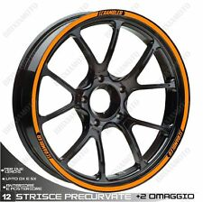 AUTOCOLLANTS BANDES ADHESIVES ROUE DUCATI 800 SCRAMBLER ORANGE