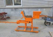 New Manual Clay Interlocking Brick Making Machine No1+No2 Block Mold Ship by Sea
