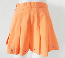 IXSPA Tennis Skirt Pleated Size S/M Orange Tone Polyester