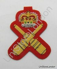 Badge Gunnery Instructor Dress ARM Badge Gold On Red R1180