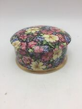 "Chintz Royal Winton England Florence Trinket Bx 4 1/2"" in diameter and 2 1/4"" hi"