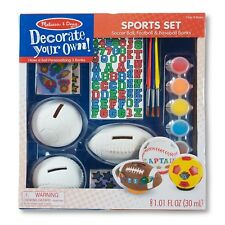Melissa & Doug® DYO Sports Set Soccer Football & Baseball Banks NEW DAMAGED BOX