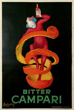 Original vintage poster 1921 Campari Spiritello EXTRA LARGE SIZE by Cappiello