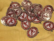 "Alabama Crimson Tide 1 1/8"" Oval 25 Patch Lot 2004-Present Logo College"
