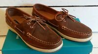 Ladies Orca Bay Lagoon Sand Waxy Leather Deck Shoes