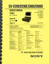 SONY GV-D200 D200E D800 D800E SERVICE MANUAL