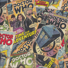 Doctor Who Comics Time For Adventure Licensed Quilting Fabric FQ or Metre *New*