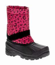 Girls Temp Rated Boots Size 12 Winter Snow Ski Pink Black Cheetah SlipOn