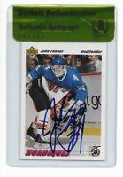 JOHN TANNER signed autographed 1991-92 UPPER DECK ROOKIE CARD RC BECKETT (BAS)