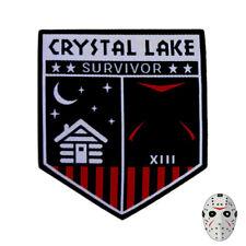 Camp Crystal Lake Survivor - Friday the 13th denim horror patch
