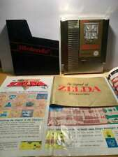 NES Nintendo Spiel The Legend of Zelda Gold Modul Manual Karte Beschreibung