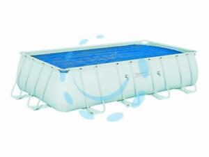"TELO TERMICO COPERTURA PISCINA RETTANGOLARE ""STEEL FRAME"" per piscine cm.732x366"