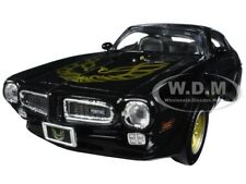 1973 PONTIAC FIREBIRD TRANS AM BLACK/GOLD WHEELS 1/24 DIECAST BY MOTORMAX 73243