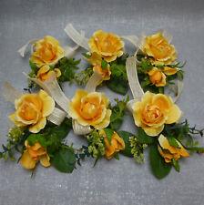 Formano Tischdeko Rosenpicks Rosen Rose orange Hochzeit 6 Teilig  Deko Konvolut