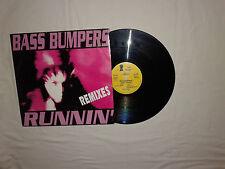 "Bass Bumpers – Runnin' (Remixes) Disco Mix 12"" Vinile ITALIA 1993 Euro House"