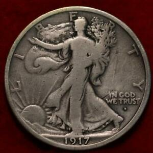 1917-D Obverse Mint Mark Denver Mint Silver Walking Liberty Half
